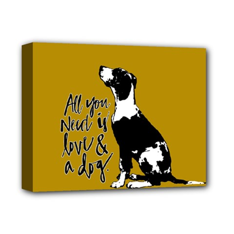 Dog person Deluxe Canvas 14  x 11