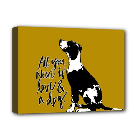 Dog person Deluxe Canvas 16  x 12