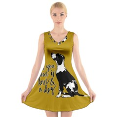 Dog person V-Neck Sleeveless Skater Dress