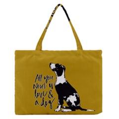 Dog person Medium Zipper Tote Bag