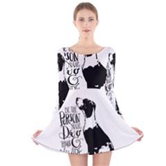 Dog person Long Sleeve Velvet Skater Dress