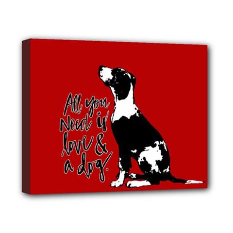 Dog person Canvas 10  x 8