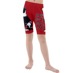 Dog person Kids  Mid Length Swim Shorts