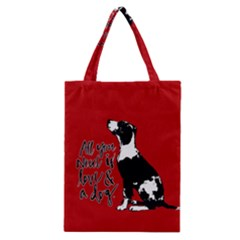 Dog person Classic Tote Bag