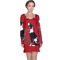 Dog person Long Sleeve Nightdress