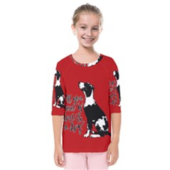 Dog person Kids  Quarter Sleeve Raglan Tee