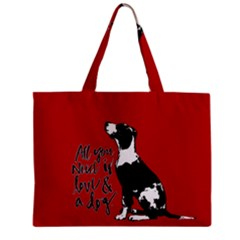 Dog person Zipper Mini Tote Bag