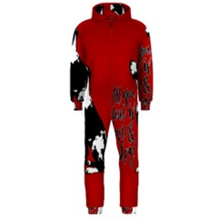 Dog person Hooded Jumpsuit (Men)
