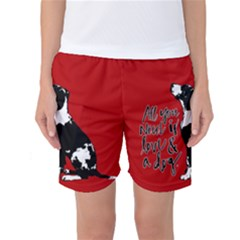 Dog person Women s Basketball Shorts