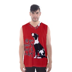 Dog person Men s Basketball Tank Top
