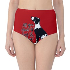Dog person High-Waist Bikini Bottoms