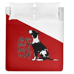 Dog person Duvet Cover (Queen Size)