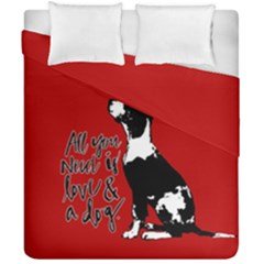 Dog person Duvet Cover Double Side (California King Size)