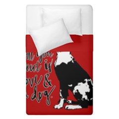 Dog person Duvet Cover Double Side (Single Size)
