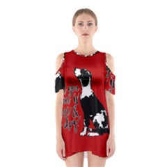 Dog person Shoulder Cutout One Piece