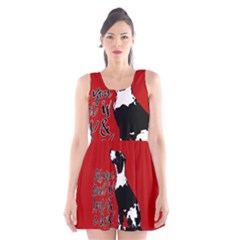 Dog person Scoop Neck Skater Dress