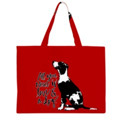 Dog person Large Tote Bag
