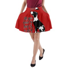 Dog person A-Line Pocket Skirt