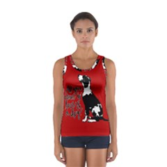 Dog person Women s Sport Tank Top