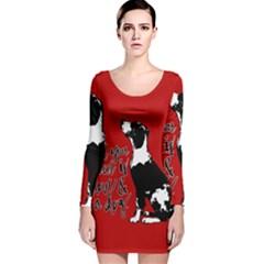 Dog person Long Sleeve Velvet Bodycon Dress