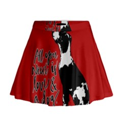 Dog person Mini Flare Skirt