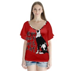 Dog person Flutter Sleeve Top