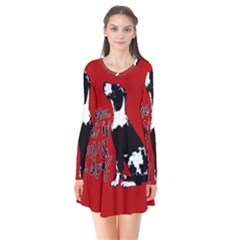 Dog person Flare Dress