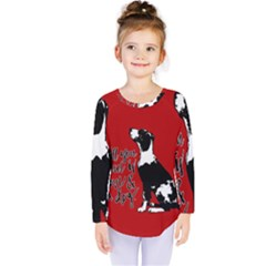 Dog person Kids  Long Sleeve Tee