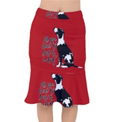 Dog person Mermaid Skirt