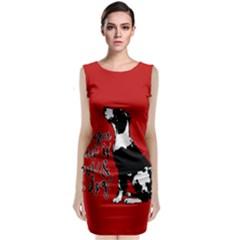 Dog person Sleeveless Velvet Midi Dress