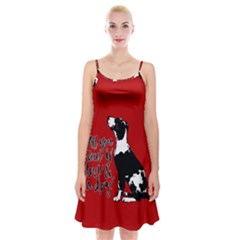 Dog person Spaghetti Strap Velvet Dress
