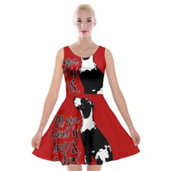 Dog person Velvet Skater Dress