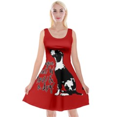 Dog person Reversible Velvet Sleeveless Dress
