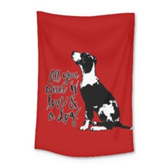 Dog person Small Tapestry