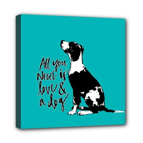 Dog person Mini Canvas 8  x 8