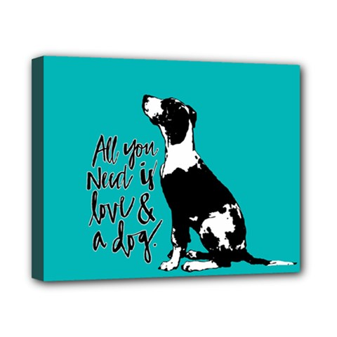 Dog person Canvas 10  x 8