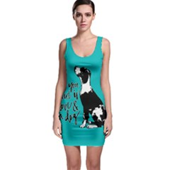 Dog person Sleeveless Bodycon Dress