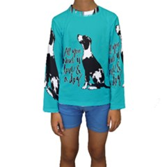 Dog person Kids  Long Sleeve Swimwear