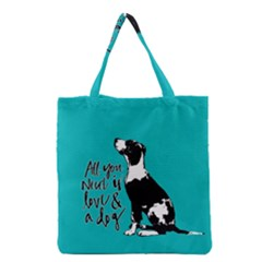 Dog person Grocery Tote Bag
