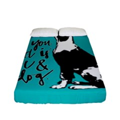 Dog person Fitted Sheet (Full/ Double Size)