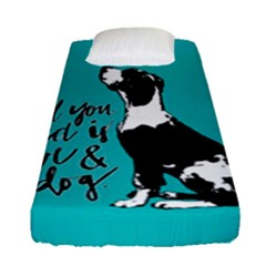 Dog person Fitted Sheet (Single Size)
