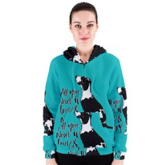 Dog person Women s Zipper Hoodie
