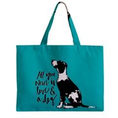 Dog person Zipper Mini Tote Bag