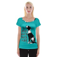 Dog person Women s Cap Sleeve Top