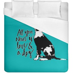 Dog person Duvet Cover (King Size)