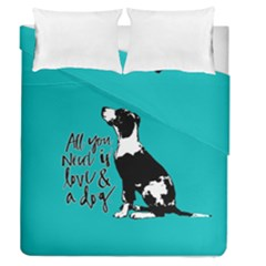 Dog person Duvet Cover Double Side (Queen Size)