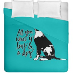 Dog person Duvet Cover Double Side (King Size)