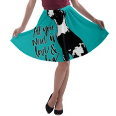 Dog person A-line Skater Skirt