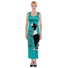 Dog person Fitted Maxi Dress