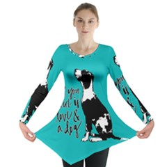 Dog person Long Sleeve Tunic